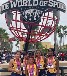 Jets relay team at Disney World national competitions