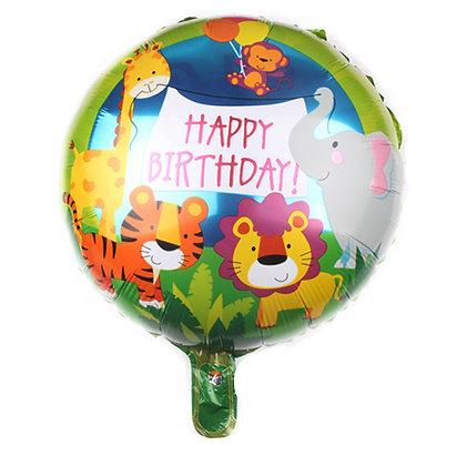 Jungle Animal Birthday Round Shape