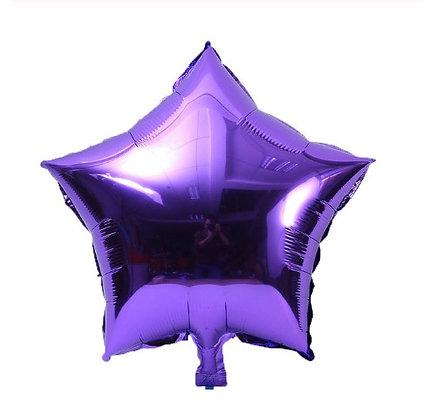 Balon Foil Bintang Ungu Tua