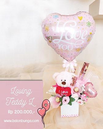 Loving Teddy Bouquet L