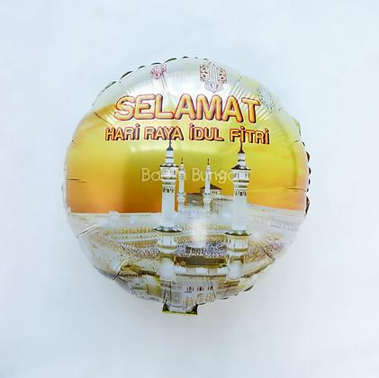 Balon Foil Idul Fitri Round Shape 01