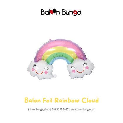 Balon Foil Rainbow Cloud