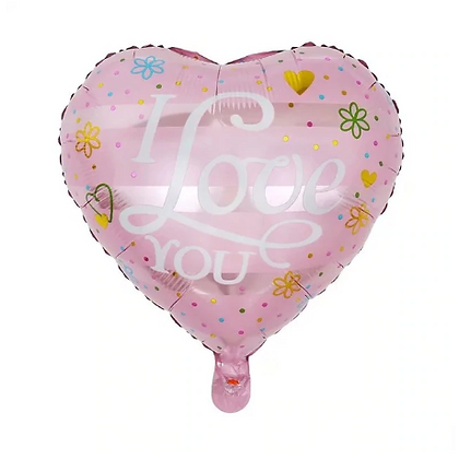I Love You Calligraphy Love Shaped Foil Balloon
