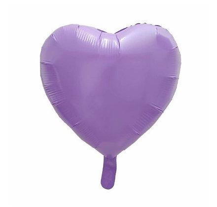 Purple Macaron Heart Shape Foil Balloon