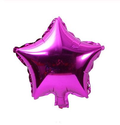Balon Foil Bintang Fuschia