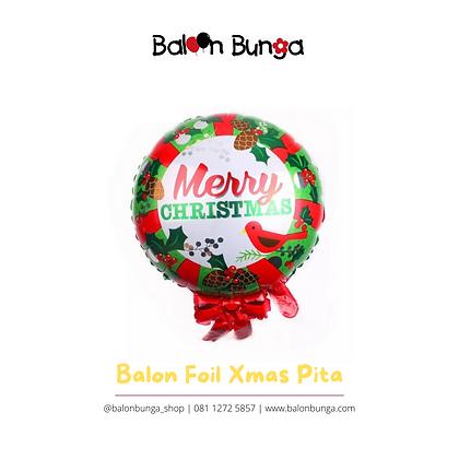 Balon Foil Natal Pita