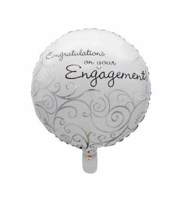 Balon Foil Engagement Round Shape