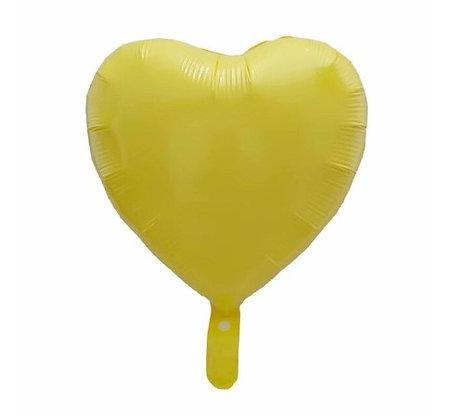 Yellow Macaron Heart Shape Foil Balloon
