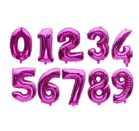 Balon Angka Pink 40cm