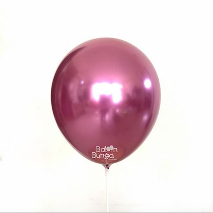 "11"" Pink Chrome Balloons"