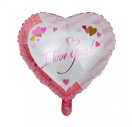 I Love You Pink Love Shaped Foil Balloon