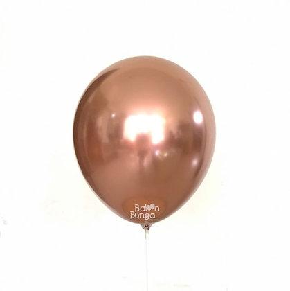 """11"""" Rose Gold Chrome Balloons"""