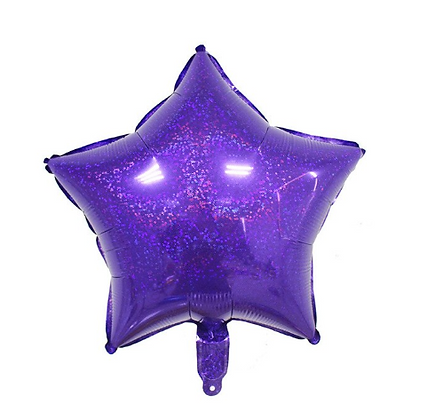 Holographic Violet Star Foil Balloon