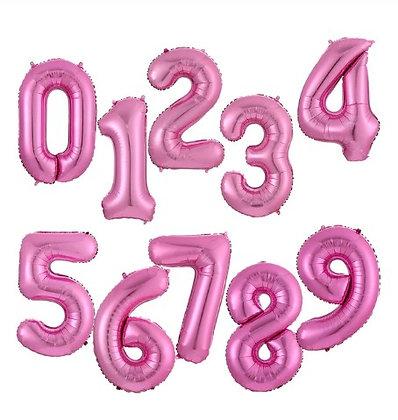 Balon Angka Fuschia 100cm