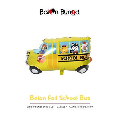 Balon Foil School Bus