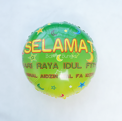 Balon Foil Idul Fitri Round Shape 02