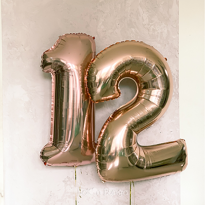 Rose Gold Number Balloon 100cm