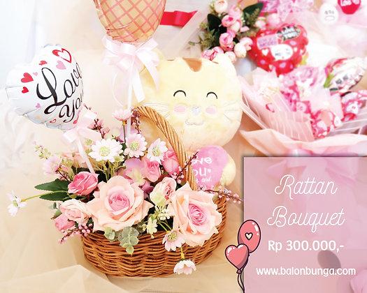 Rattan Valentine Bouquet
