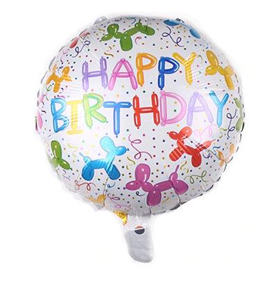 Dog Balloon Birthday Round Shape