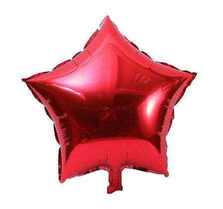 Balon Foil Bintang Merah