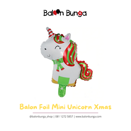 Balon Foil Mini Unicorn Natal