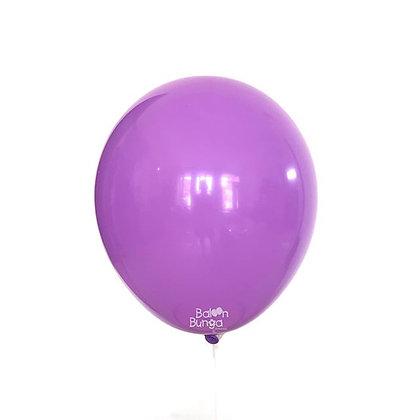 "Balon 12"" Ungu Lavender Doff"
