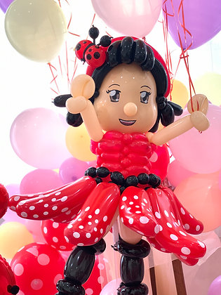 Lady Bug Balloon Art