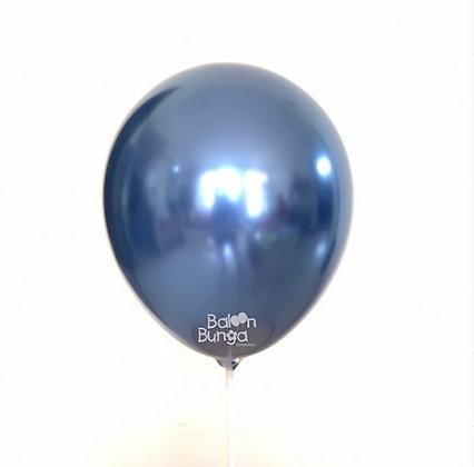 "11"" Blue Chrome Balloons"