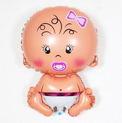 Baby Girl Baby Shape Mini Foil Balloon