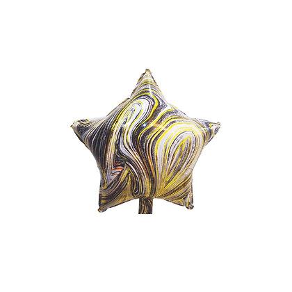 Balon Foil Bintang Marble Hitam