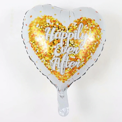 Happily Ever After Love Shaped Foil Balloon