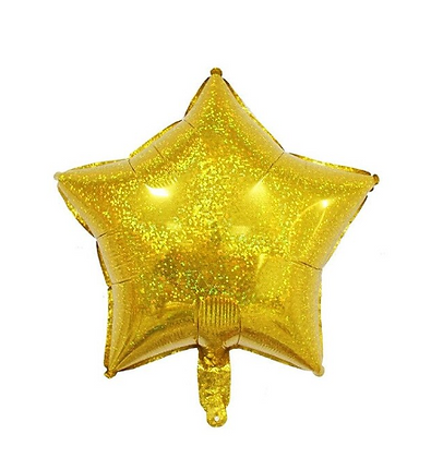 Holographic Gold Star Foil Balloon