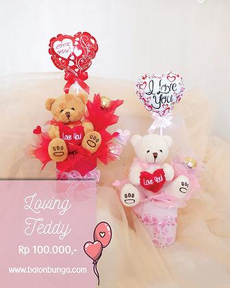 Loving Teddy Bouquet