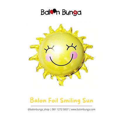 Balon Foil Smiling Sun