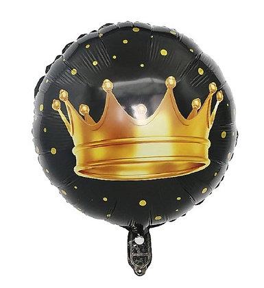 Balon Foil Mahkota Round Shape