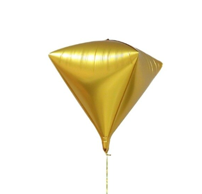 4D Kite Gold Foil Balloon
