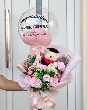 Hand Bouquet Graduation + Bubble