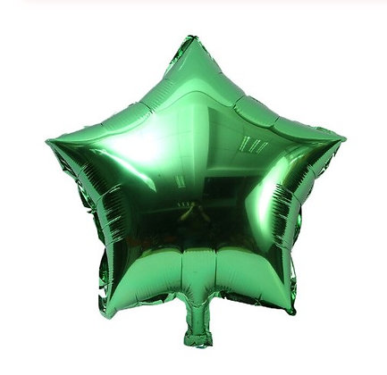 Balon Foil Bintang Hijau Tua