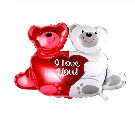 Balon Foil Teddy Couple