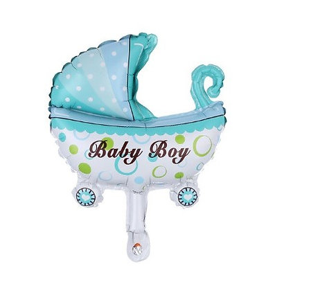 Baby Boy Stroler Mini Foil Balloon