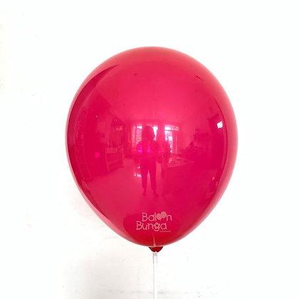 """Balon 12"""" Merah Doff"""