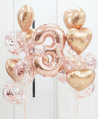 Rose Gold Confetti Bundle