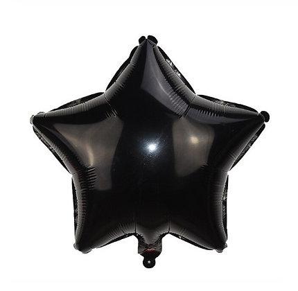 Balon Foil Bintang Hitam
