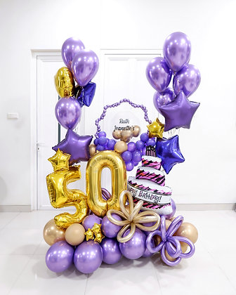 Giant Foil Bouquet with Helium
