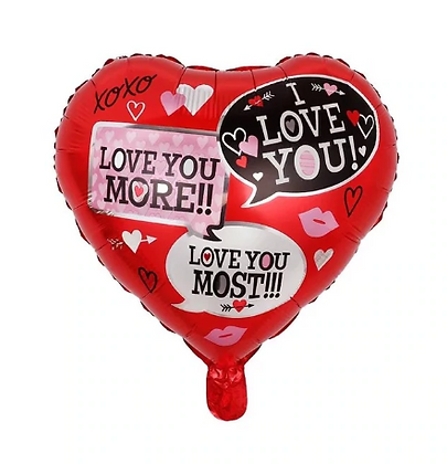 Valentine Stamp Love Shaped Foil Balloon