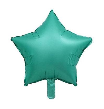 """Balon Foil Bintang 18"""" Hijau Satin"""