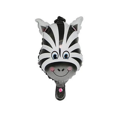 Balon Foil Kepala Zebra Mini