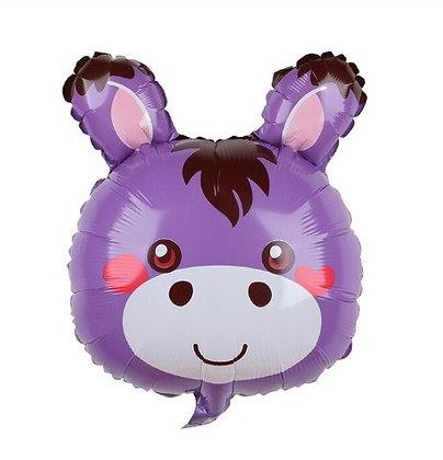 Balon Foil Keledai Donkey Chibi