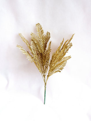Sparkling Gold Pine Leaves