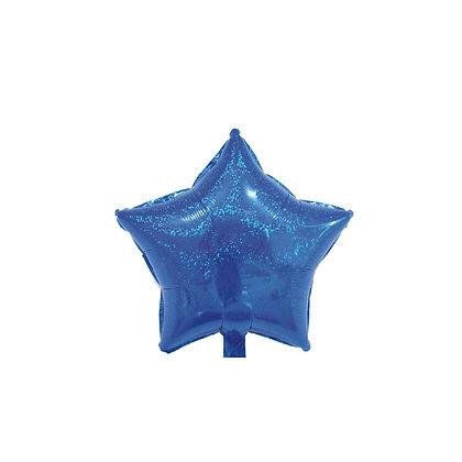 Balon Foil Bintang Hologram Biru Tua